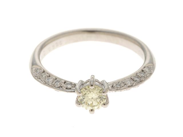 ノンブランドジュエリー 指輪 リング PT900 プラチナ ダイヤモンド 0.326カラット 0.19カラット 11号 【474】
