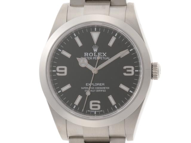 【2016年並行輸入品】ROLEX 時計 エクスプローラーⅠ 214270 自動巻き 黒文字盤 ステンレススチールSS 男性用時計【430】