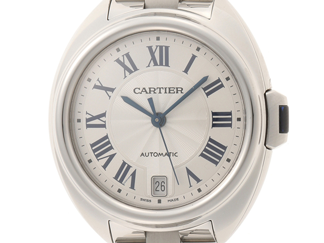 Cartier カルティエ 時計 クレ・ドゥ・カルティエ WSL0006 ステンレススチール シルバー文字盤 自動巻き 【205】