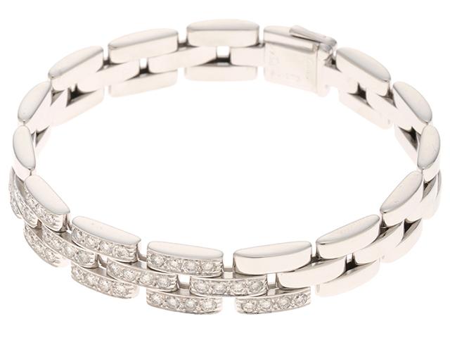Cartier カルティエ マイヨンパンテール パヴェ ホワイトゴールド ダイヤモンド ブレスレット WG 35.4g 修理明細書【430】2147100349511 image number 4