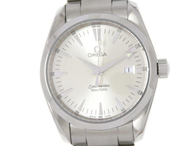 オメガ OMEGA シーマスター アクアテラ メンズ 男性用腕時計 ステンレス クオーツ シルバー 2518.30 【474】