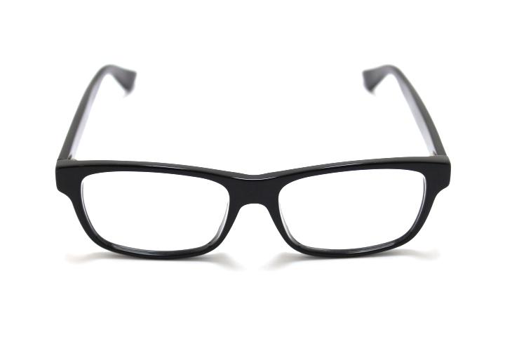 GUCCI グッチ メガネ ブラック プラスチック メガネフレーム【460】
