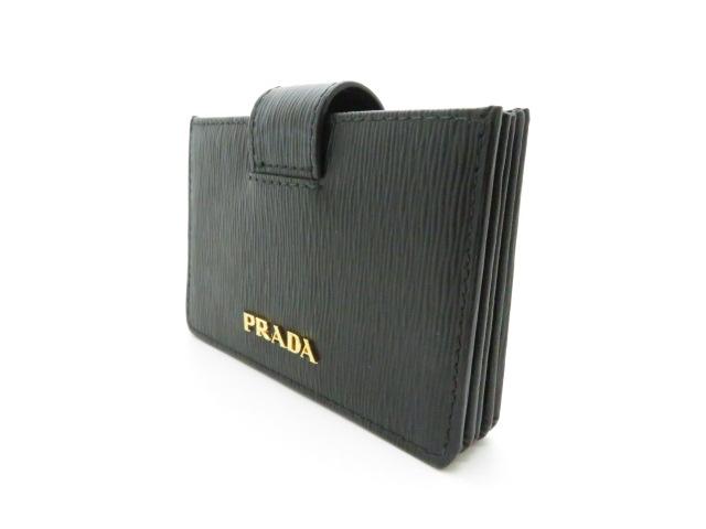 PRADA プラダ カードケース 小物 名刺入れ サフィアーノ カーフ ブラック 1MC211【473】 image number 1