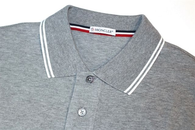 MONCLER モンクレール トップス 半袖 ポロシャツ メンズS グレー コットン 2018年 (2148103082634)【200】 image number 4