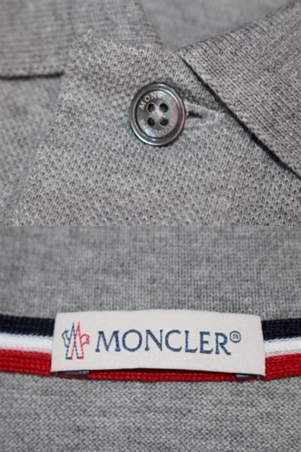 MONCLER モンクレール トップス 半袖 ポロシャツ メンズS グレー コットン 2018年 (2148103082634)【200】 image number 5