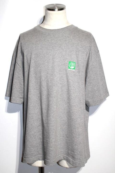 BALENCIAGA バレンシアガ Tシャツ メンズXXL グレー コットン FT17 594579 THV63 1300 2019年 【200】