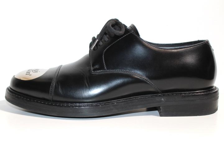 LOUIS VUITTON ルイヴィトン ヴォルテール・ライン リシュリュー 革靴 メンズ5ハーフ 約25cm ブラック レザー NIGOコラボ 2020年 定価¥¥159,500- image number 1
