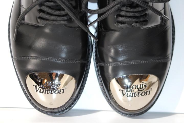LOUIS VUITTON ルイヴィトン ヴォルテール・ライン リシュリュー 革靴 メンズ5ハーフ 約25cm ブラック レザー NIGOコラボ 2020年 定価¥¥159,500- image number 4