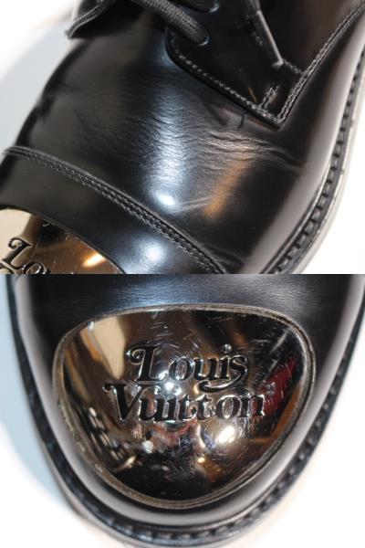 LOUIS VUITTON ルイヴィトン ヴォルテール・ライン リシュリュー 革靴 メンズ5ハーフ 約25cm ブラック レザー NIGOコラボ 2020年 定価¥¥159,500- image number 5