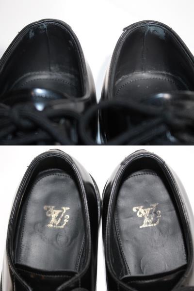 LOUIS VUITTON ルイヴィトン ヴォルテール・ライン リシュリュー 革靴 メンズ5ハーフ 約25cm ブラック レザー NIGOコラボ 2020年 定価¥¥159,500- image number 6
