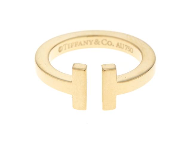 TIFFANY&CO ティファニー TワイヤーR リング 8号 K18YG イエローゴールド 8号 箱付き 【430】