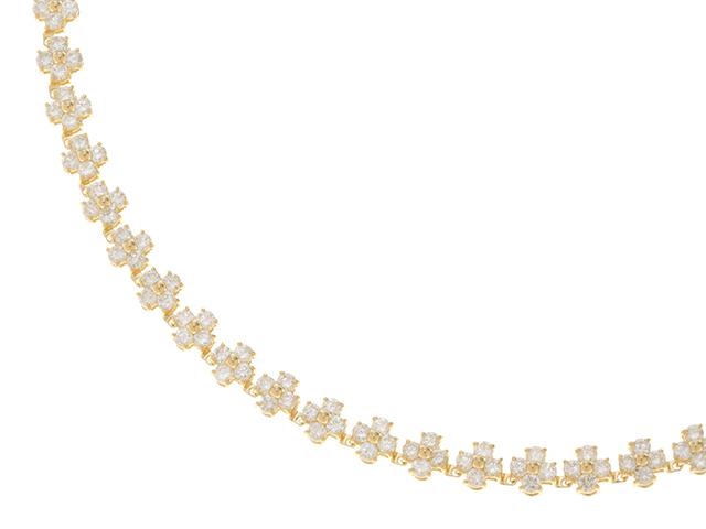 JEWELRY ノンブランド イエローゴールド ダイヤモンド ネックレス K18 D10.09 26.1g【430】2148103181443