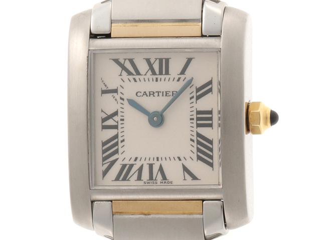 Cartier カルティエ タンクフランセーズSM W51007Q4 YG/SS アイボリー クォーツ【432】