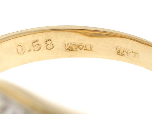 JEWELRY ノンブランドジュエリー デザイン リング 指輪 K18 ゴールド ルビー 0.58ct ダイヤモンド 0.23ct 13号 ソーティング付き 【460】 image number 2