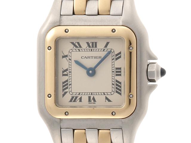 Cartier 時計 カルティエ  パンテールSM W25029B6 クオーツ アイボリー文字盤 YG/SS 女性用時計【430】 image number 0
