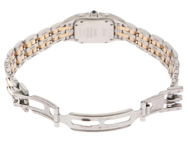 Cartier 時計 カルティエ  パンテールSM W25029B6 クオーツ アイボリー文字盤 YG/SS 女性用時計【430】 image number 3