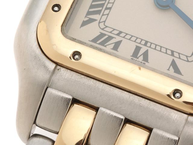 Cartier 時計 カルティエ  パンテールSM W25029B6 クオーツ アイボリー文字盤 YG/SS 女性用時計【430】 image number 5