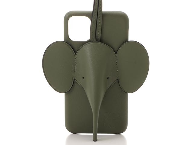LOEWE ロエベ 携帯カバー エレファント iPhone11カバー アボカドグリーン カーフ C719C80X01 SJ【472】