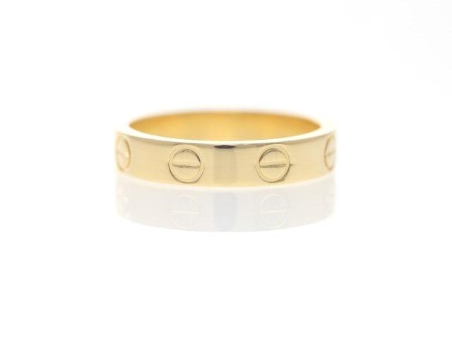 Cartier カルティエ 貴金属・宝石 ミニラブリング ウェディングリング 指輪 K18イエローゴールド 3.4g 48号(日本サイズ8号)【473】