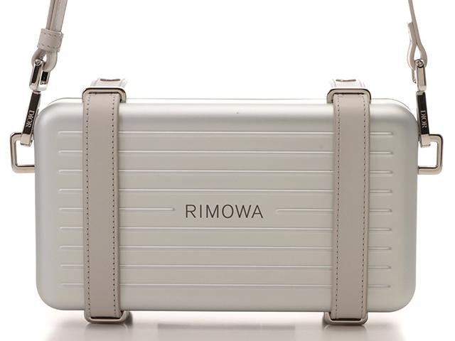 Dior ディオール  DIOR AND RIMOWA ディオール アンド リモワ パーソナルクラッチバッグ シルバー アルミニウム/カーフ【430】2148103270727
