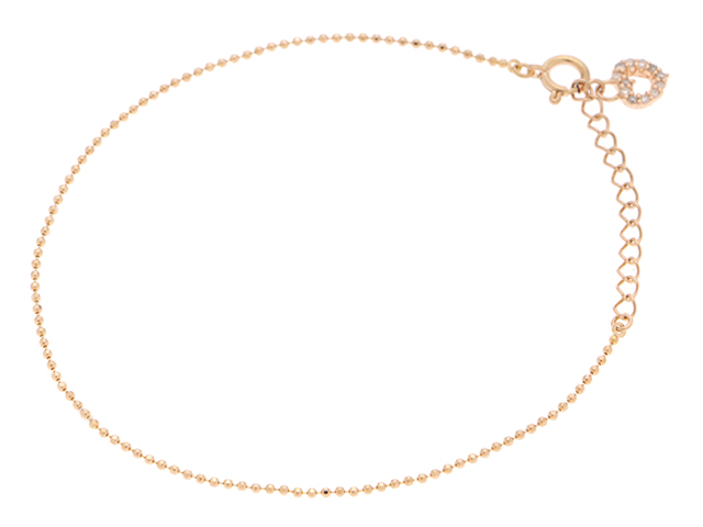 JEWELRY ノンブランドジュエリー ピンクゴールド ダイヤモンド ブレスレット K18PG D 1.2g 15~17.5cm 【410】