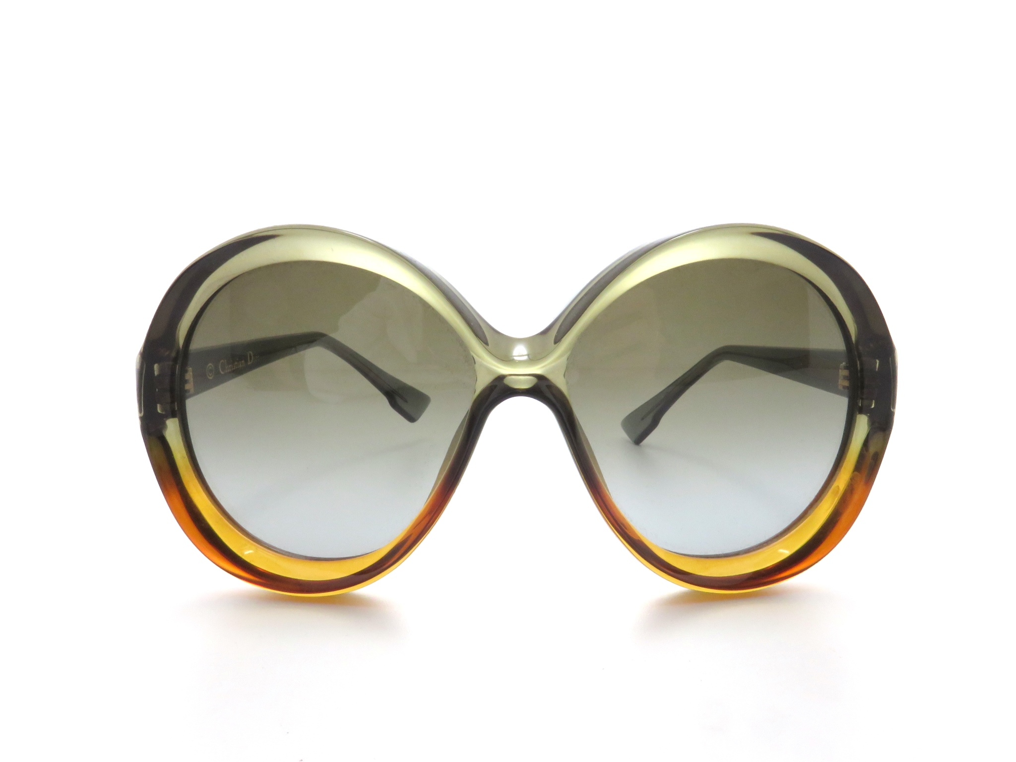 Dior ディオール サングラス ダークグリーン/ブラウン プラスチック LGPHA【431】