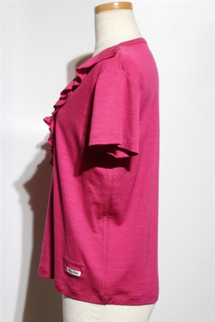 miu miu  ミュウミュウ Tシャツ ウール ナイロン ピンク レディース XS 半袖 【432】 image number 6