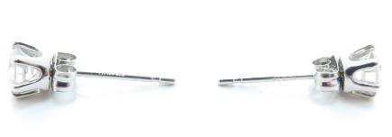ノンブランドジュエリー ダイヤモンドピアス プラチナ900 ダイヤモンド0.16ct/0.17ct 全体重量約0.7g 【205】 image number 1