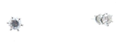 ノンブランドジュエリー ダイヤモンドピアス プラチナ900 ダイヤモンド0.16ct/0.17ct 全体重量約0.7g 【205】 image number 4