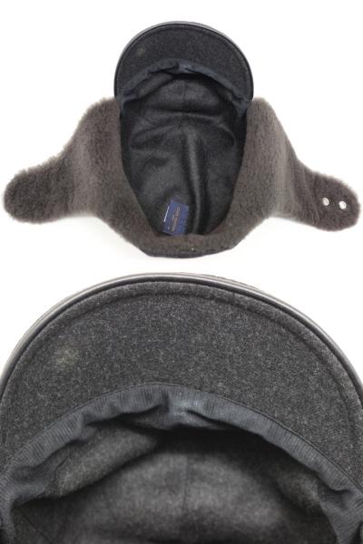 LOUIS VUITTON ルイヴィトン 帽子 キャスケット・ファーアルプス グレー ウール カシミヤ 牛革 2018年 【200】 image number 7