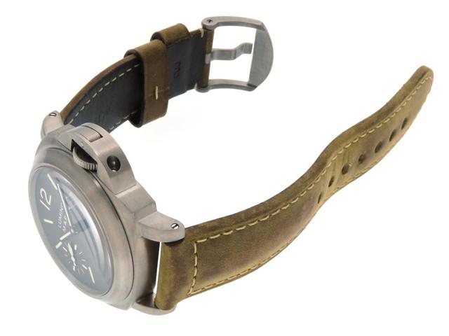 PANERAI パネライ ルミノール マリーナ PAM00061 チタン/革ベルト 2001年11月並行 手巻き メンズ 300m防水 【205】