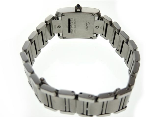 Cartier カルティエ タンクフランセーズSM W51008Q3 SS ホワイト文字盤 レディース クオーツ 【436】 image number 3