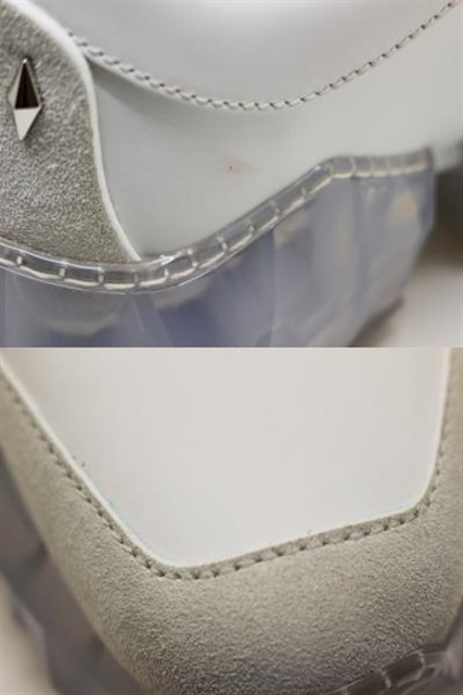 JIMMY CHOO ジミーチュウ DIAMOND/M スニーカー メンズ 40 ホワイト レザー DIAMONDMOCU 定価¥125,400-【200】