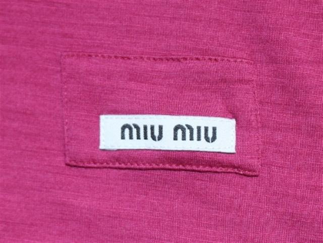 miu miu  ミュウミュウ Tシャツ ウール ナイロン ピンク レディース XS 半袖 【432】 image number 1