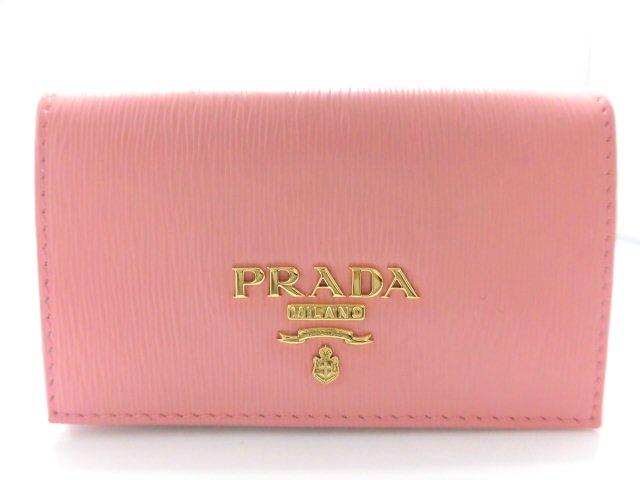 PRADA プラダ 名刺入れ カードケース PETALO(ピンク) VITELLOMOVE(レザー) 1MC122 【474】
