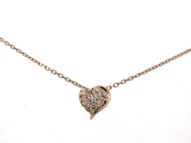 STAR JEWELRY スタージュエリー ハートモチーフネックレス ダイヤモンド 0.06カラット 1.0g 【474】