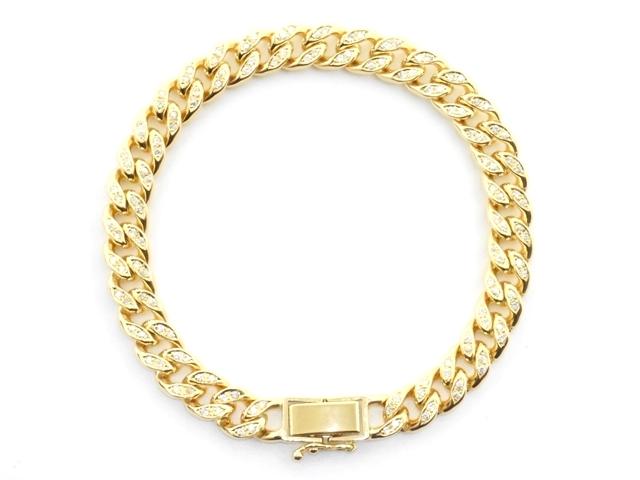 JEWELRY 貴金属・宝石 ダイヤブレスレット キヘイブレスレット K18 ゴールド D1.13ct 33.8g 喜平 【200】