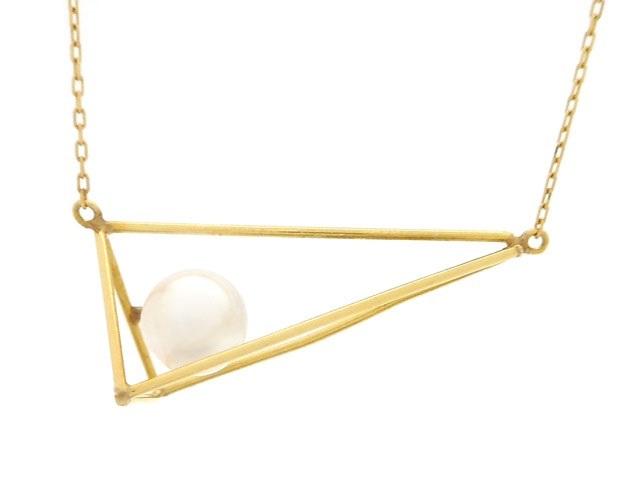 JEWELRY ノンブランドジュエリー ネックレス ゴールド  K18 パール 真珠 1.2g 【200】