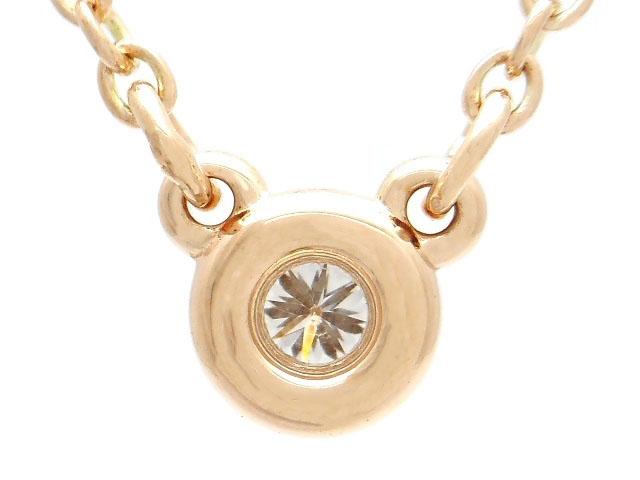 TIFFANY&CO ティファニー 貴金属・宝石 バイザヤードネックレス ダイヤネックレス K18PG ピンクゴールド 1PD ダイヤモンド 2.1g(2141000279640)【200】 image number 2