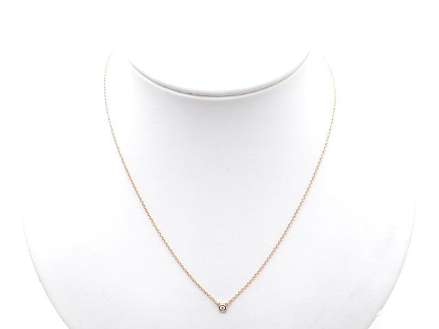TIFFANY&CO ティファニー 貴金属・宝石 バイザヤードネックレス ダイヤネックレス K18PG ピンクゴールド 1PD ダイヤモンド 2.1g(2141000279640)【200】 image number 7