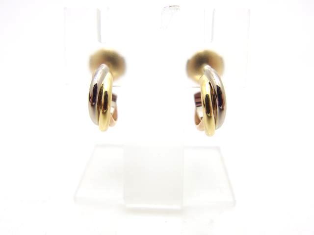 Cartier カルティエ トリニティピアス 3カラー【435】