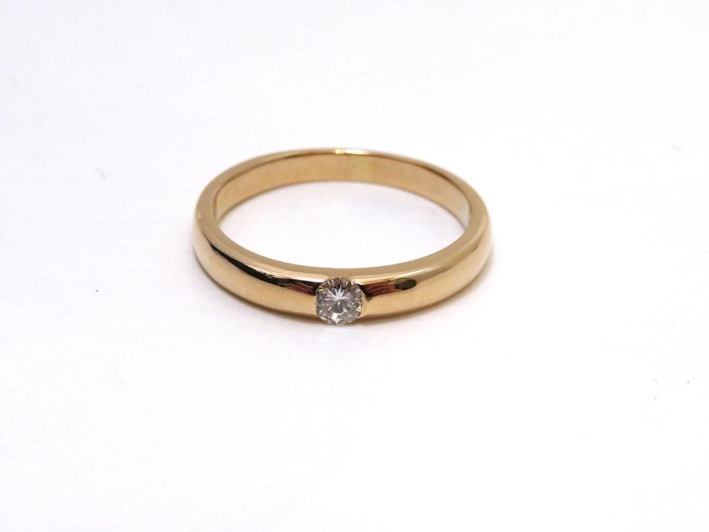 JEWELRY  ノンブランドジュエリー リング K18PG/ピンクゴールド ダイヤモンド0.15カラット 約3.5g 約13.5号【472】AH