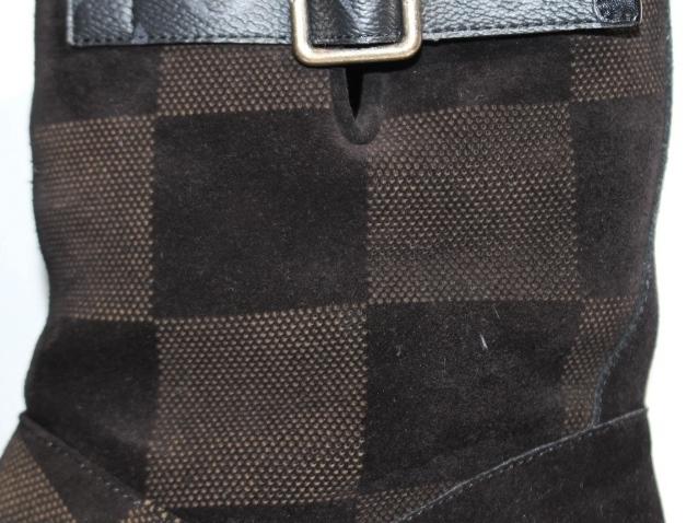 LOUIS VUITTON ルイヴィトン 日本限定 LV コージー・ライン ブーツ メンズ9ハーフ 約28cm ブラック スエード NIGOコラボ 2020年 定価¥174,900-【200】 image number 7
