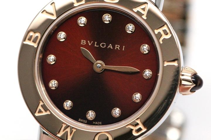 BVLGARI ブルガリ トゥボガス レディース ステンレス K18ピンクゴールド ブラウン BBL262TC11SPG クォーツ HN【472】 image number 3