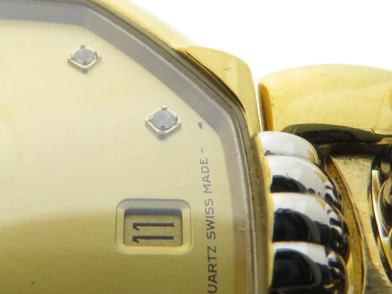 Christian Dior クリスチャンディオール デポーズ 45.134 シャンパン文字盤 GP/SS ゴールドメッキ/ステンレス クオーツ 日付表示 レディースウォッチ 時計【204】 image number 8