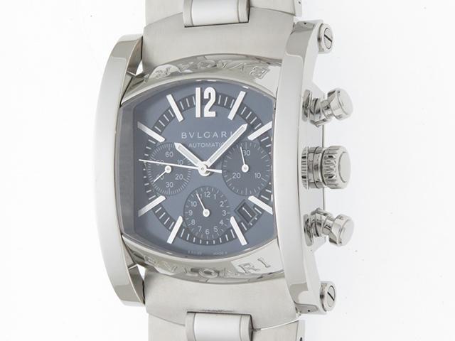 BVLGARI  時計 ブルガリ アショーマクロノ  AA44SCH グレー文字盤 メンズ 自動巻き ステンレス SS【430】【430】