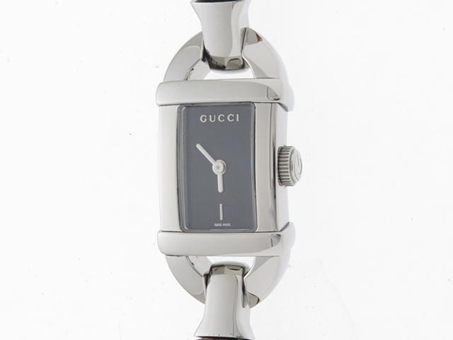 GUCCI 時計 グッチ 6800L ブラック文字盤 レディース クオーツ ステンレス バンブー SS【430】 【430】