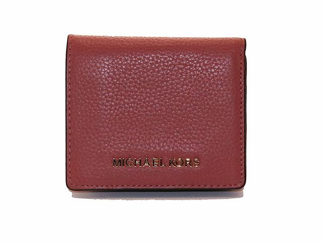 MICHAELKORS マイケルコース 二つ折財布 ピンク カーフ 【433】
