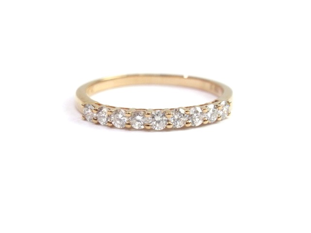 ノンブランド ジュエリー K18PG ピンクゴールド リング ダイヤモンド0.36ct 1.6g 13.5号【413】