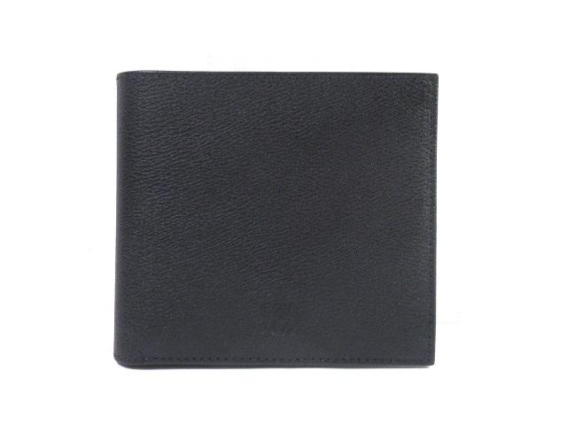 LOEWE ロエベ 二つ折札入れ ブラック カーフ